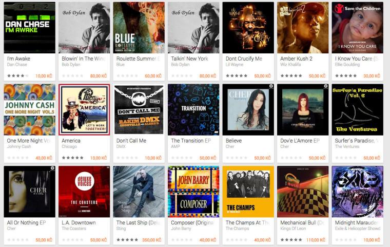 Google v Česku otevřel obchod s hudbou